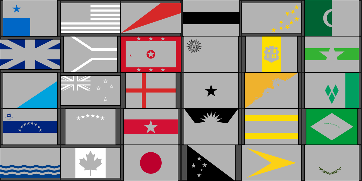Flags by Single Color Quiz - By nthe